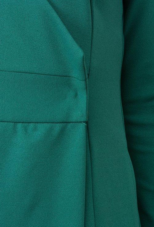 Rochie verde parte peste parte Anisia