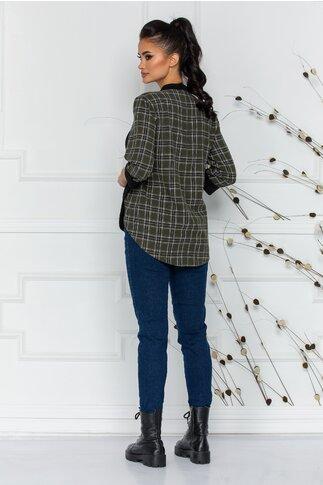 Blugi Adriana bleumarin simpli cu talie inalta