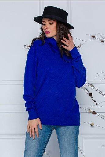 Bluza Cami albastra cu guler maxi