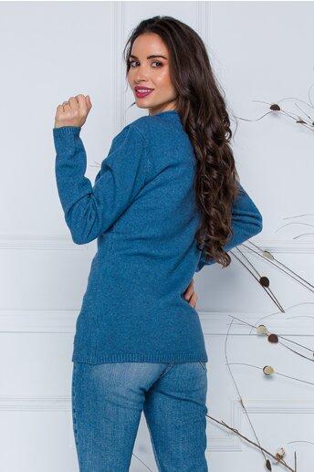 Bluza Diana albastra cu model
