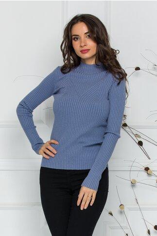 Bluza Jenifer lila din tricot reiat