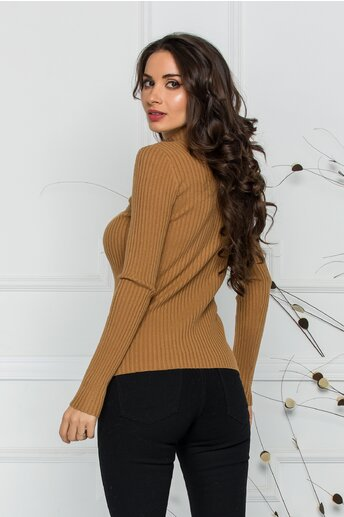 Bluza Jenifer maro din tricot reiat