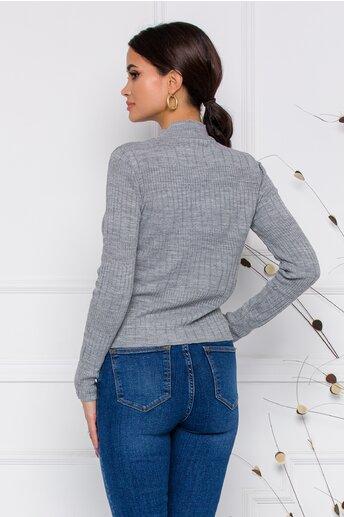 Bluza Leona gri din tricot