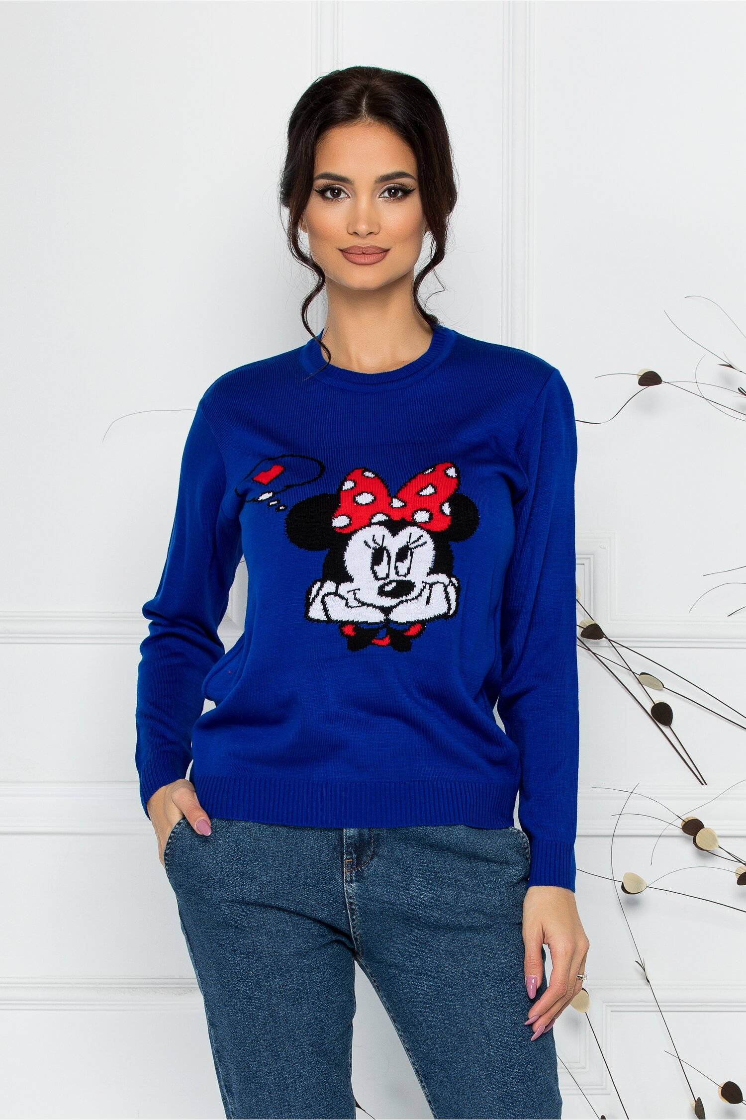 Bluza Minnie in Love albastra
