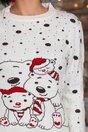 Bluza Polar Bear alba cu imprimeu de iarna
