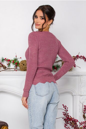Bluza Ramona lila cu insertii din fir lurex