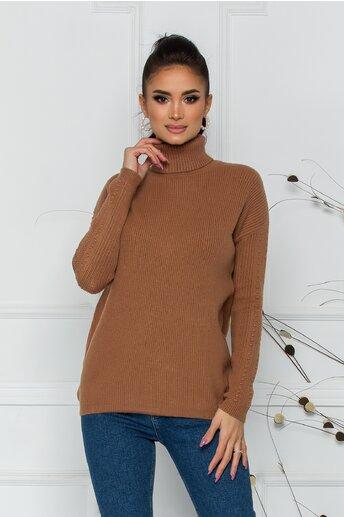 Bluza Ramona maro din tricot