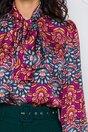 Camasa LaDonna by Catalin Botezatu cu imprimeu colorat si guler tip esarfa