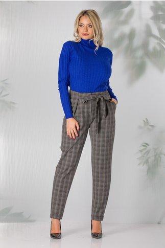 Pantaloni in carouri cu nuante de gri