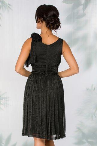 Rochie LaDonna neagra cu fundita aplicata pe un umar