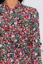 Rochie Mara neagra cu imprimeu floral multicolor