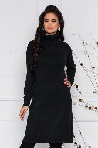 Rochie Mira neagra lejera din tricot