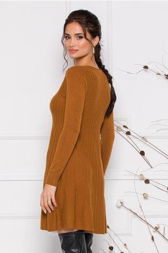 Rochie Miruna maro din tricot