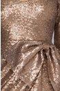 Rochie Sara din paiete aurii