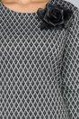 Rochie Vanesa neagra cu romburi argintii