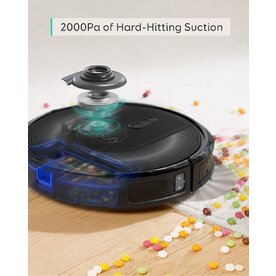 Aspirator robot smart Anker eufy RoboVac G30 Verge, Wi-Fi, Super-Slim, 2000Pa, Smart Dynamic Navigation 2.0, Negru