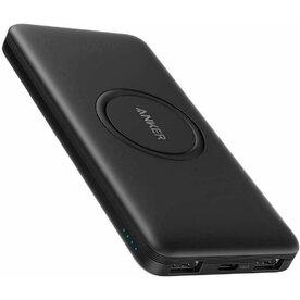 Baterie externa hybrid Anker PowerCore 10.000 mAh, incarcare wireless, 1x USB-C, 2x USB-A, Negru