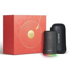 Boxa portabila wireless bluetooth Anker Soundcore Flare 360, cu lumini LED, Xmas Limited Edition, Negru