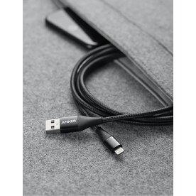 Cablu USB-C - Lightning Anker MFI PowerLine+ II 0.9m Negru