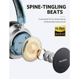 Casti Wireless Over-Ear Anker Soundcore Space, Noise Cancelling, Bluetooth 4.1, Negru/Gri