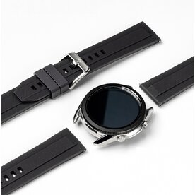 Curea smartwatch Ringke Rubber One Band pentru Galaxy Watch 3 45mm, marime 22mm, TPU, Negru