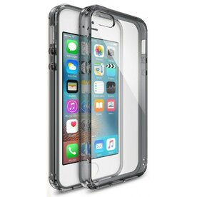 Husa iPhone 5/5s/SE Ringke FUSION SMOKE BLACK + BONUS folie protectie display Ringke