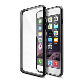 Husa iPhone 6 / iPhone 6s Ringke FUSION NEGRU+BONUS folie protectie display Ringke