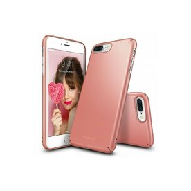 Husa iPhone 7 Plus / iPhone 8 Plus Ringke Slim ROSE GOLD + BONUS folie protectie display Ringke