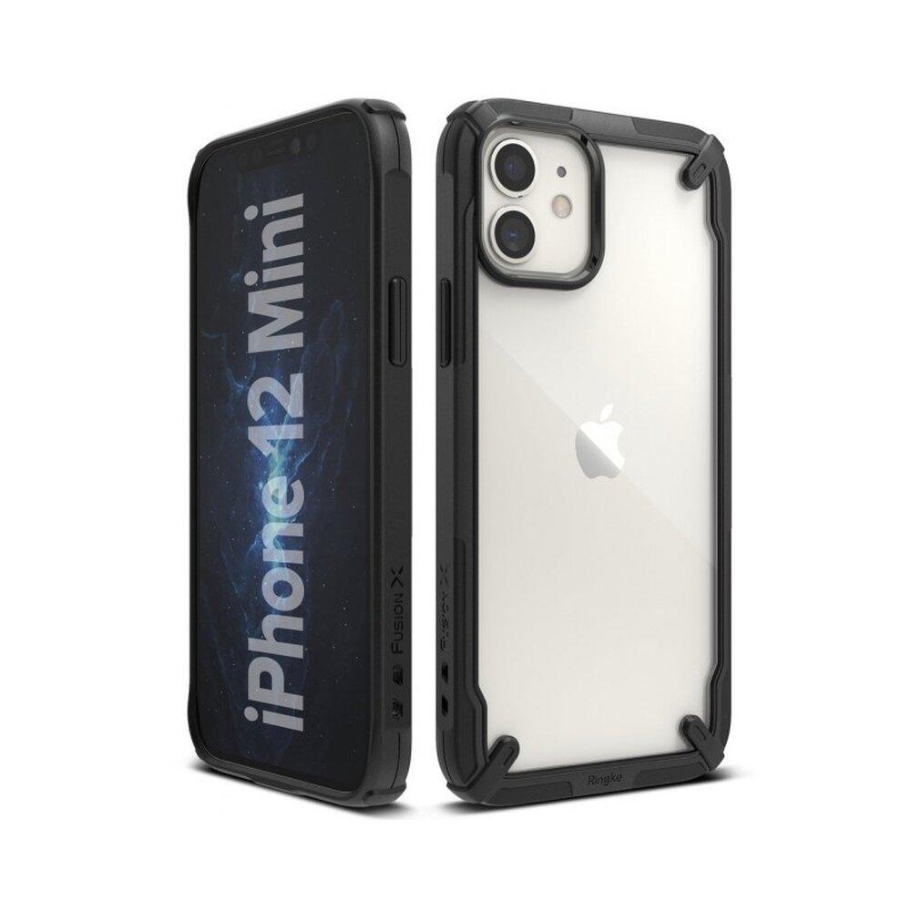 Husa Ringke FUSION X iPhone 12 Mini Transparent/Negru