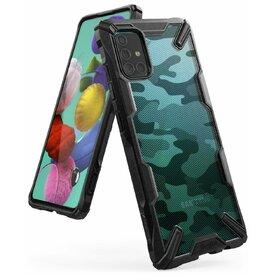 Husa Samsung Galaxy A51 Ringke FUSION X Design Negru Camuflaj