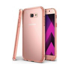 Husa Samsung Galaxy A7 2017 Ringke FUSION ROSE GOLD + BONUS folie protectie display Ringke