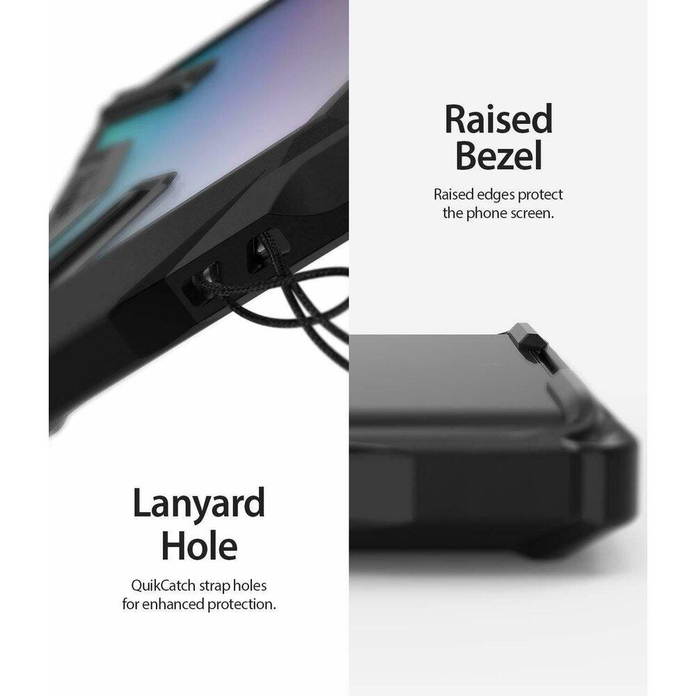 Husa Samsung Galaxy Note 10 Plus / Note 10 5G Plus Ringke FUSION X Transparent/Negru