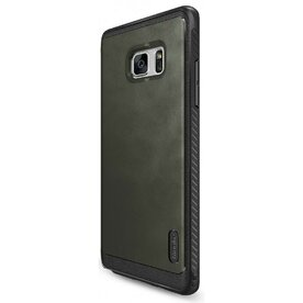 Husa Samsung Galaxy Note 7 Fan Edition Ringke Flex S GRI + Bonus folie protectie Ringke Invisible Screen Defender