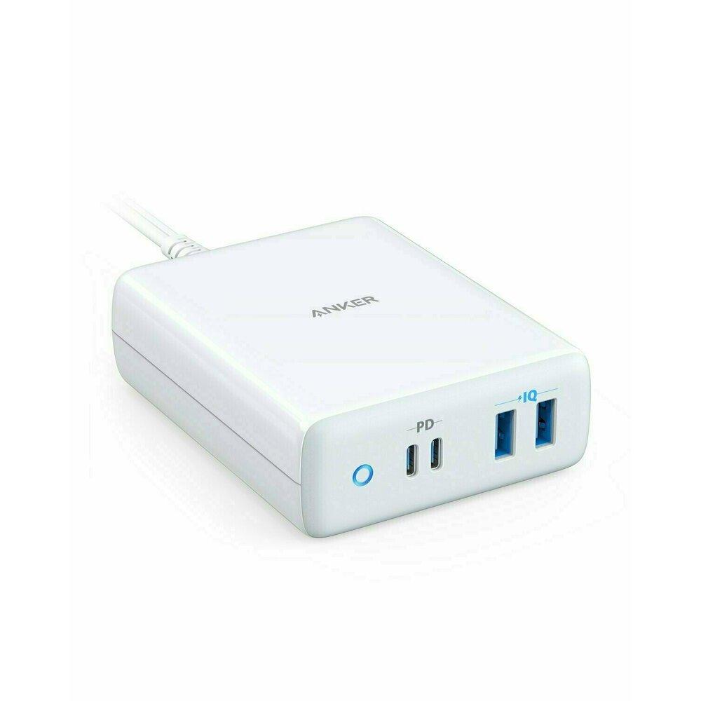 Incarcator retea Anker PowerPort Atom PD 4, 100W, 2x USB-C, 2x USB-A, Power Delivery, Alb