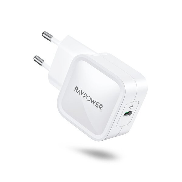 Incarcator retea RavPower GaN 30W USB-C Power Delivery, Alb