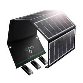 Incarcator solar pliabil RavPower RP-PC005, 24W, USB, 4x Panou Solar, 2.4A - 4.8A
