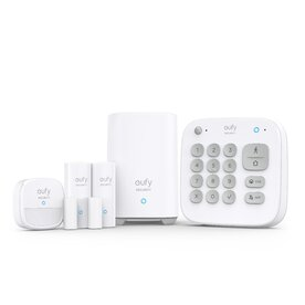 Kit Complet Alarma Smart eufy Security, Senzor miscare, 2x senzori intrare, tastatura, Wireless