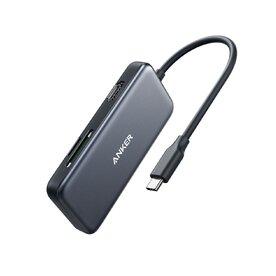 Adaptor Anker USB-C 5-in-1, 4K HDMI, 2xUSB-A, microSD, SD Card Reader, Negru