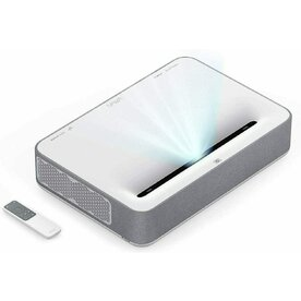 Proiector video VaVa 4K Ultra Short Throw Laser TV, 2500 ANSI lm, HDR 10, Sound Bar Harman Kardon, ALPD 3.0, Alb