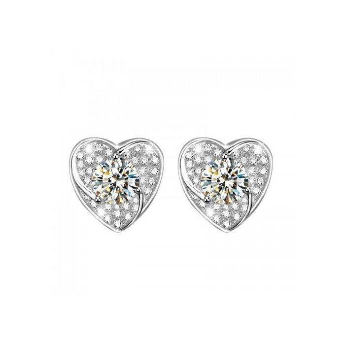 Cercei din argint Diamond Heart poza 2021