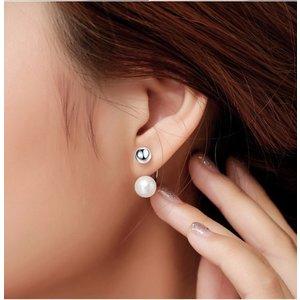Cercei din argint Double Mixed Pearls