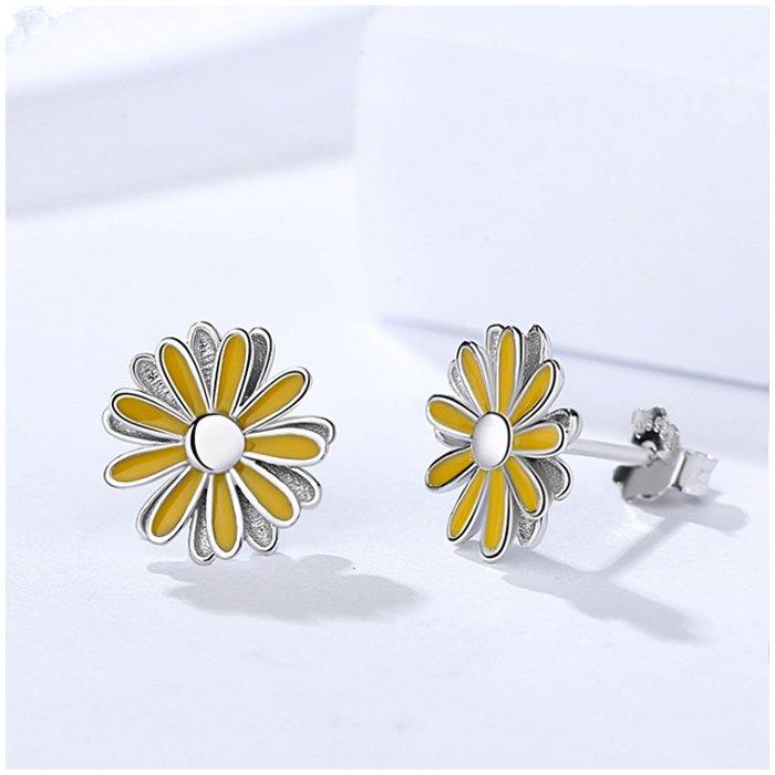 Cercei din argint Yellow Daisy poza 2021