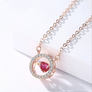 Colier din argint Fashion Diamond Heart Golden