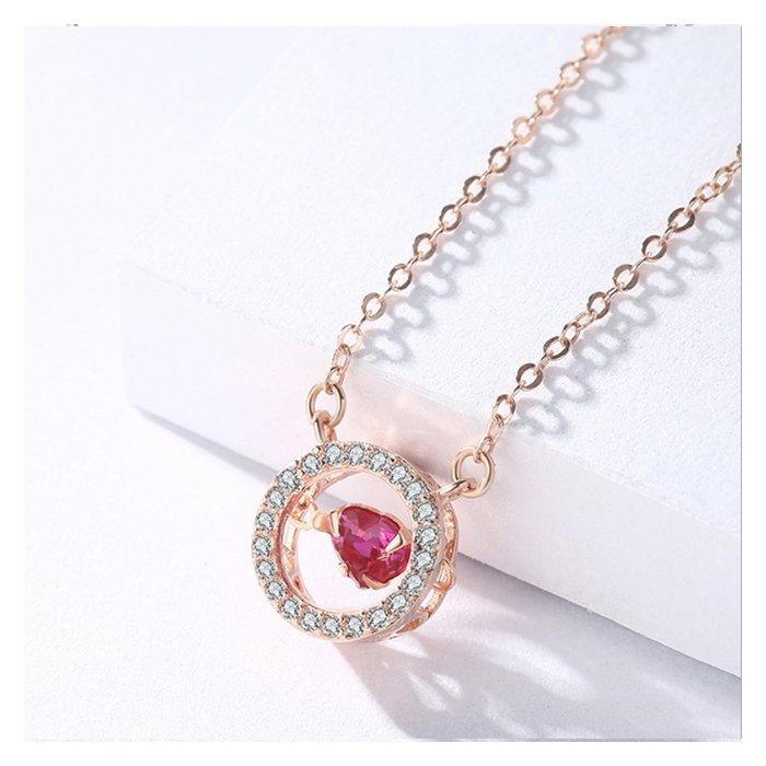 Colier din argint Fashion Diamond Heart Golden poza 2021