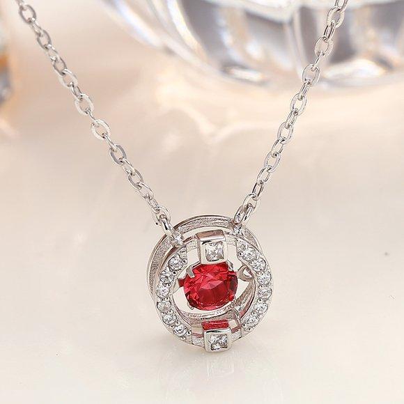 Colier din argint Red Diamond Look