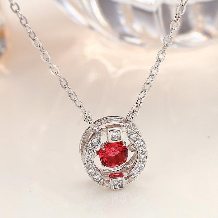 Colier din argint Red Diamond Look poza 2021