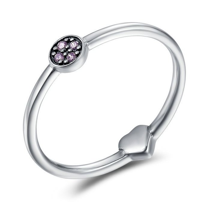 Imagine Inel Din Argint Crystal And Heart Ring