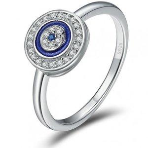 Inel din argint Lucky Blue Circle