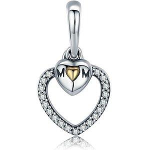 Talisman din argint Heart Mom
