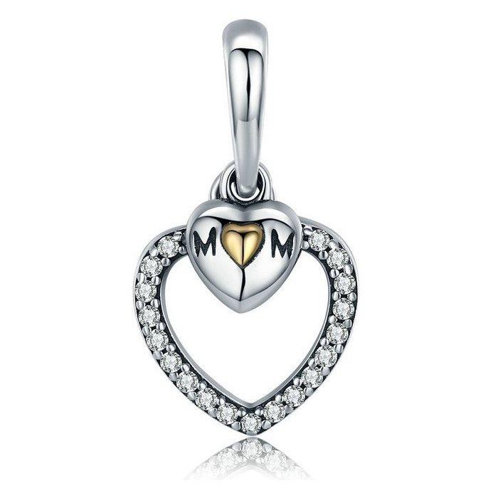 Talisman din argint Heart Mom poza 2021
